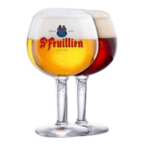 verre de bière Saint Feuillien Brune 7.5° Biere d Abbaye
