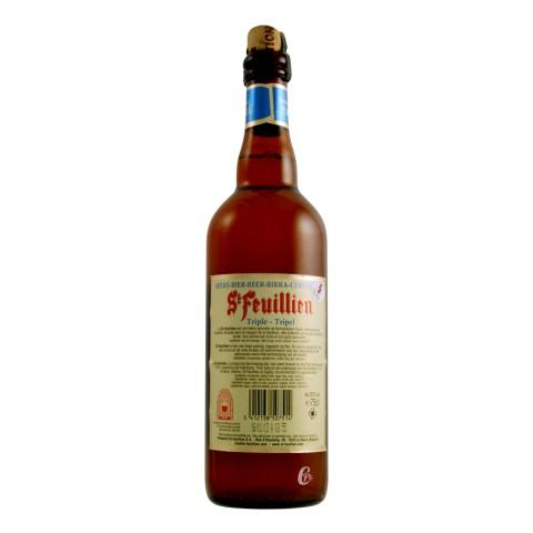 Bouteille de bière Saint Feuillien triple 75cl 8°5
