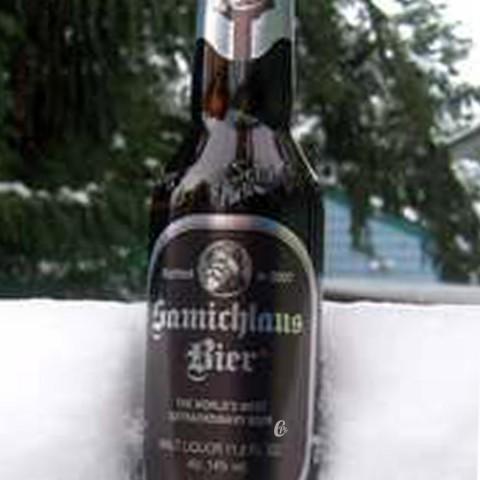 Bouteille de bière Samischlaus Brune 14°