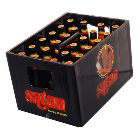 Bouteille de bière Satan Gold 8°