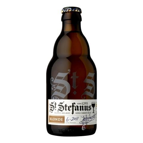 Bouteille de Bière St Stefanus blonde 7° 33cl