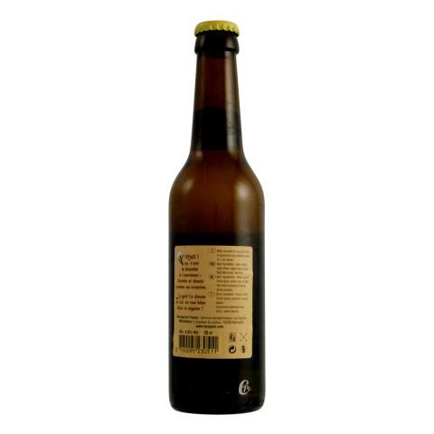 Bouteille de bière LA CAGOLE blanche 33CL 5.0° (Bière)