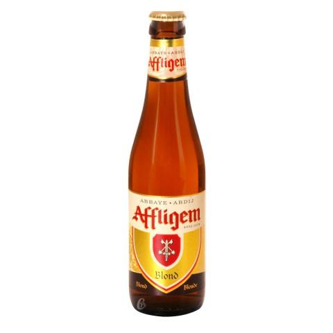 Bouteille de bière Affligem blonde