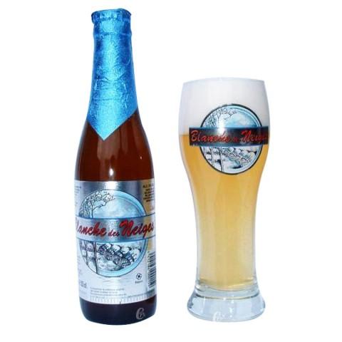 Bouteille de bière Blanche des Neiges