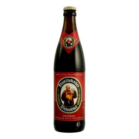 Bouteille de bière Franziskaner Weissbier Dunkel 5° (Bière)