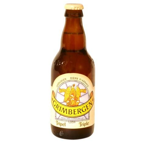 Bouteille de bière Grimbergen Triple 9°