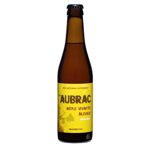 Bouteille de biere blonde Aubrac 5.8 -33cl