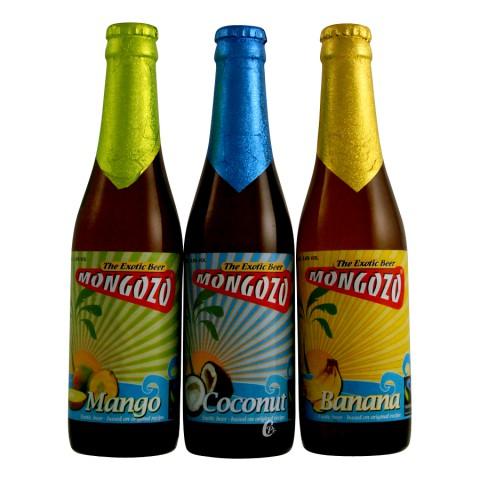 Bouteille de bière Mongozo Coco Beer 3,5° 33cl