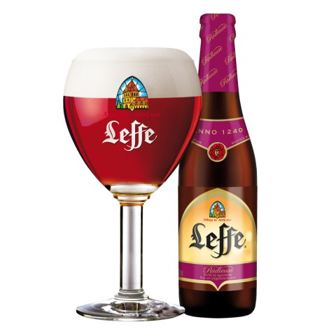 Bouteille de bière Leffe Radieuse