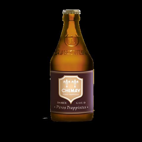 Bouteille de bière Chimay dorée 33cl