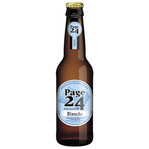 Bouteille de bière PAGE 24 BLANCHE 4.9°