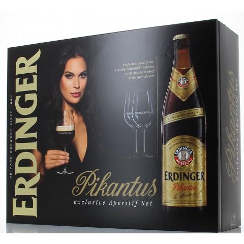 Bouteille de bière COFFRET ERDINGER PIKANTUS 2V 1B