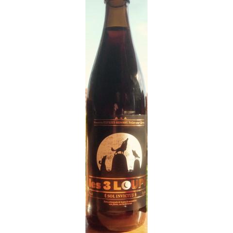 Bouteille de bière 3 LOUPS SOL INVICTUS 7.5° VP50