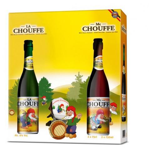 Bouteille de bière COFFRET CHOUFFE 2B 75CL 1VERRE