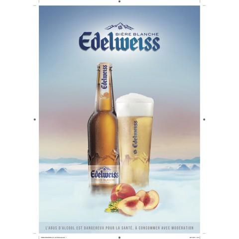 Bouteille de bière EDELWEISS PECHE BLANCHE 5° VP33