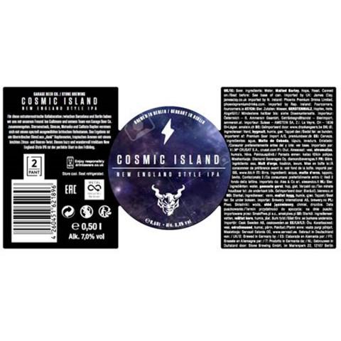 Bouteille de bière STONE GARAGE COSMIC ISLAND 7° BOITE 50CL