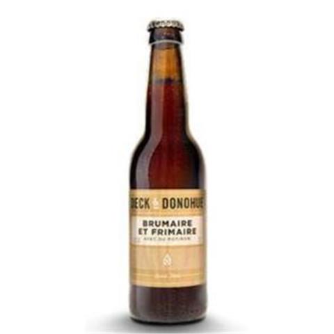 Bouteille de bière DECK & DONOHUE BRUMAIRE & FRIMAIRE 5.3° VP33 VP33X24CL