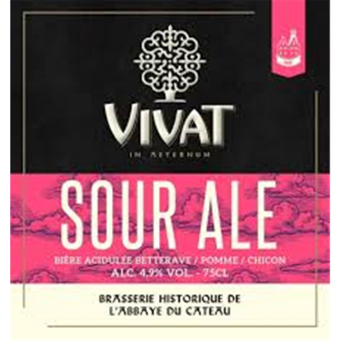 Bouteille de bière VIVAT SOUR BETTERAVE POMME CHICON 4.9° VP33CL