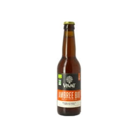 Bouteille de bière VIVAT AMBREE BIO 6.5° VP33CL