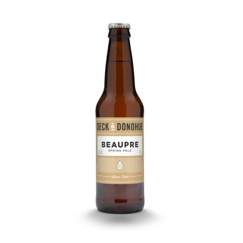 Bouteille de bière DECK & DONOHUE BEAUPRE SPRING PALE ALE BIO 4.5° VP33X24CL