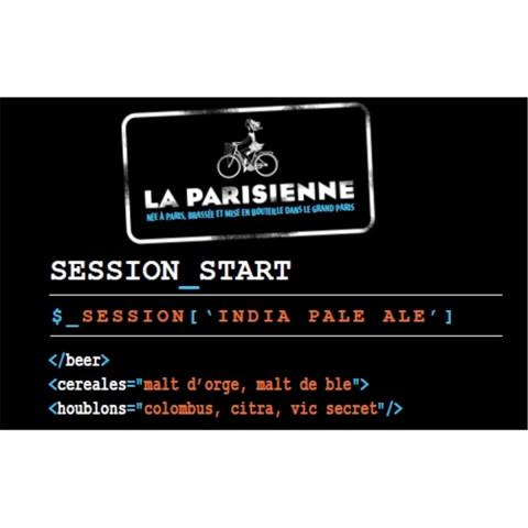 Bouteille de bière LA PARISIENNE SESSION START IPA 4.5° VP33CL
